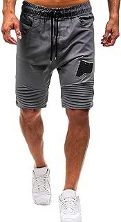 Pantalones Hombres Cortos,YanHoo Respirable Entrenamiento Culturismo Slim Fit Suelto Personalidad para Hombres Verano Casual Elástico Deporte Sólido Bolsos Holgados Pantalones Cortos