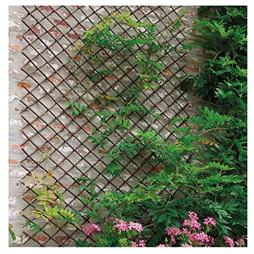 YOGANHJAT Celosia Madera Extensible Celosía de Madera Enrejado Jardín Madera Natural Resistente...