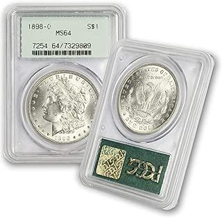 1898 O Morgan Silver Dollar $1 MS64 PCGS