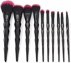 black and red unicorn brushes