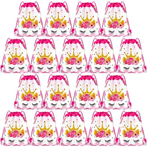 18 Pack Crown Drawstring Backpacks Viaky Child Crown Drawstring Party Bag Birthday Party Supplies product image