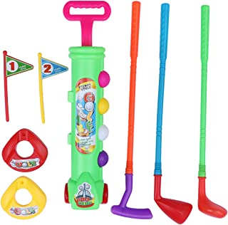 LIOOBO Children Golf Club Set Golf Play Game Toy Sport Early Development Educational Toy for Toddlers Kids Babies (Green)