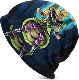 Men's Women's Cool Cotton Dragon Ball Broly Vs Vegeta and Goku Beanie Slouch Skull Cap Hip-hop Winter Summer Hat Black