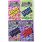Brain Games Crossword Puzzles 4 Books of 100 Crossword Puzzles Each 400 Total