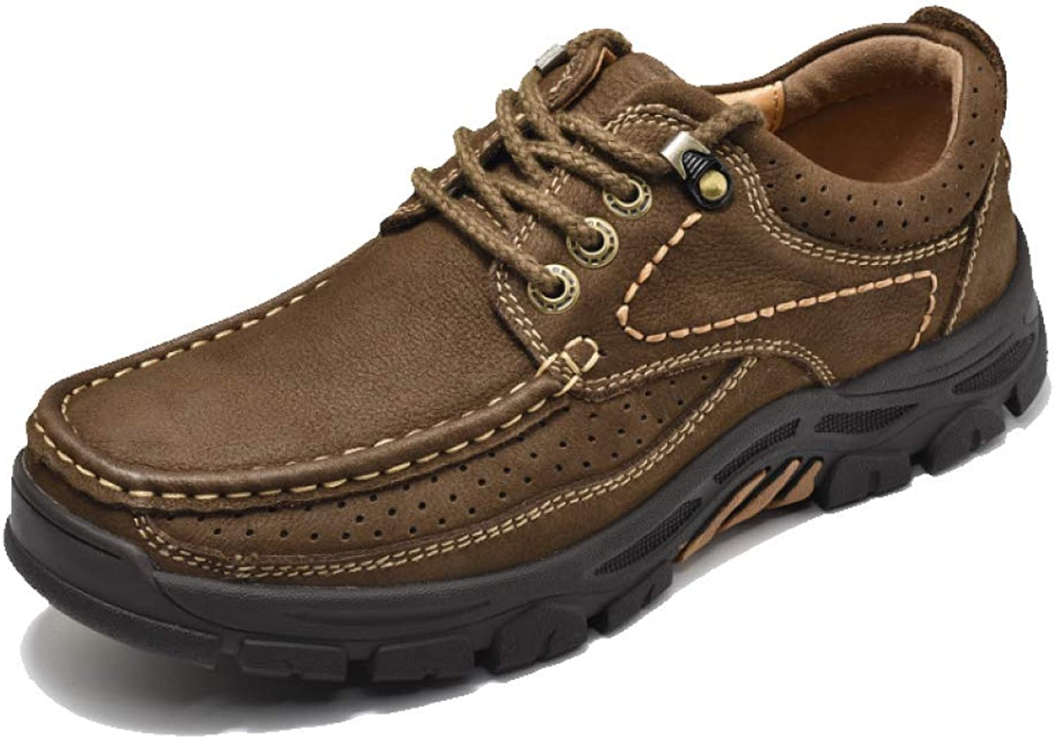 JCZR Men's Casual shoes, Hand-Stitched, Lace-up Driving shoes, Large Size shoes