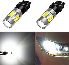 Alla Lighting 54-SMD 3156 3157 LED Turn Signal Light Bulbs High Power 4014 48-SMD LED 3157 Bulb 6000K Xenon White 3156 3157 LED Bulb Super Bright LED 4157 3457 3157 Blinker Light(Set of 2)