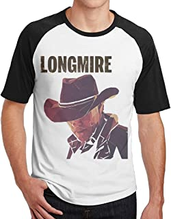 Geneva F Men`s Longmire Short Sleeve Raglan Baseball T Shirt Black