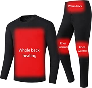 USB Electric Heating Thermal Underwear Suit Men's Warm Base Long Sleeve Top and Bottom Long Two-Piece Suit