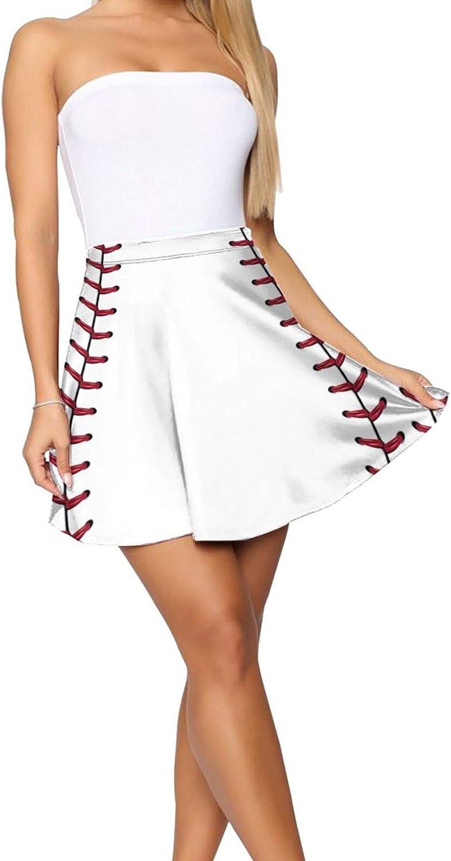 JJCSTE.C Fresh Black and White Pineapples Women's Skater Skirt Basic Short Skirt