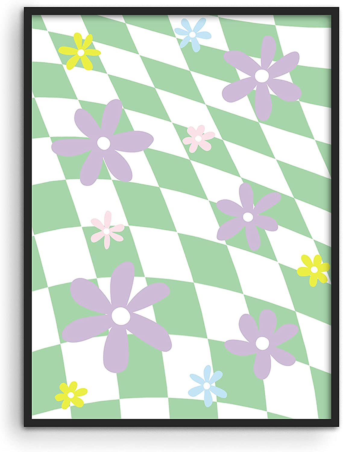 Haus and Hues Danish Pastel Aesthetic - Green Wall Art Danish Posters Cute Wall Decor Floral Wall Decor Floral Danish Pastel Room Decor Aesthetic Danish Home Decor Flower Posters UNFRAMED - 12