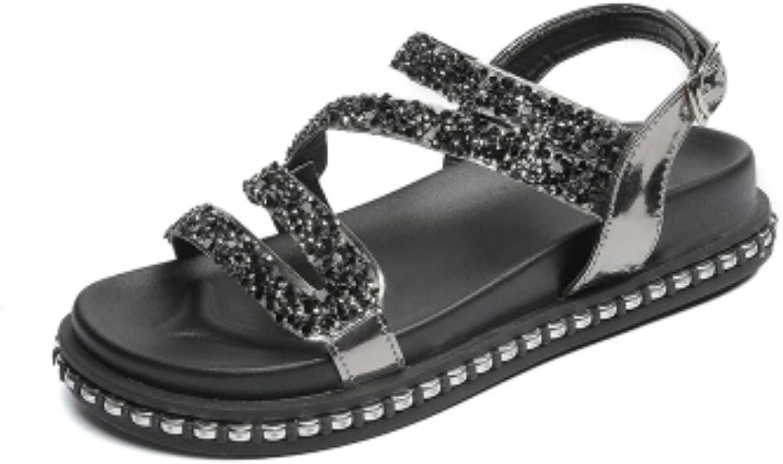 Studenter Flat Sandals Footwear kvinnor Sandals Peep Peep Peep -Toe Platform skor sommar Sandals Gladiator Sandalis  online shopping och modebutik