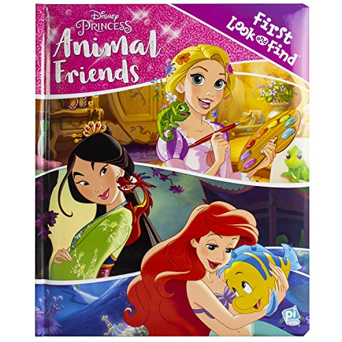 Disney Princess Rapunzel, Mulan, Ariel, and More! - Animal Friends First Look and Find Activity Book - PI Kids