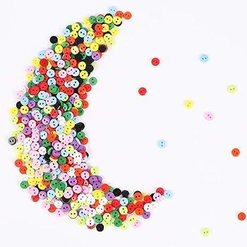 AILANDA 750 piezas botones de colores botones costura con caja de almacenamiento de plástico para DIY Manualidades Decoraciones, 2 Agujeros (10 colores): Amazon.es: Hogar