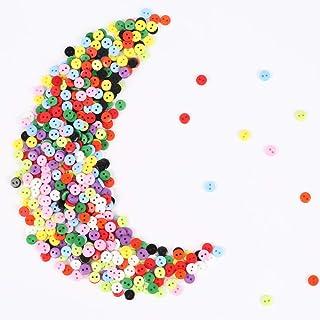 AILANDA 750 piezas botones de colores botones costura con caja de almacenamiento de plástico para DIY Manualidades Decoraciones, 2 Agujeros (10 colores)