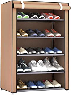 Sunlera 4 Niveles de Almacenamiento de Tela Oxford Zapatero Pasillo Gabinete Organizador de Zapatos Titular de la Puerta del gabinete Estante de Bricolaje Mueble de casa