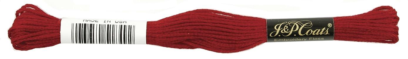 Coats Crochet 6-Strand Embroidery Floss, Garnet, 24-Pack