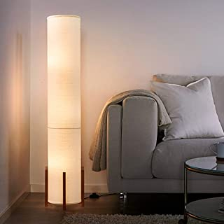 Floor Lamp AMUMO Tall Lamp for Living Room 61 Inches - with 3 LED Bulbs Soft Light, Modern Bright Standing Light for Bedroom Office - LED Bamboo Lamps White …