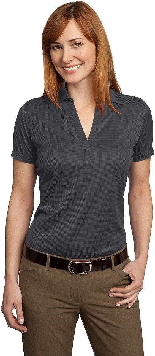Port Authority Ladies Performance Fine Jacquard Sport Shirt, XXL, Grey Smoke