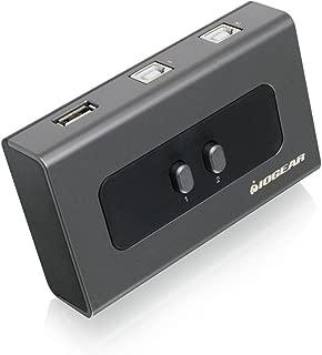 IOGEAR 2 Computer 2-Port USB 2.0 Peripheral Sharing Switch, GUB212