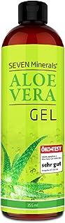 Aloe Vera Gel 99% Bio, 355 ml – ÖKO-TEST Sehr Gut – 100% Natürlich, Rein & Ohne Duftstoffe Alkoholfrei, Kein Parfüm/WC-Duft – Einzigartige Vegane Formel OHNE XANTHAN – aus ECHTEM SAFT, NICHT PULVER