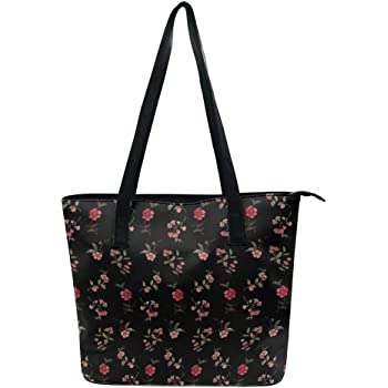 Tote Bags Seamless Pattern Flowers Floral Background Travel Totes Bag Fashion Handbags Shopping Zippered Tote For Women Waterproof Handbag