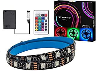 WOWLED 24-Key IR Controller IP67 RGB Battery Lighting Strip for Theater Home Kitchen Stairs Ceiling Cabinet Halloween