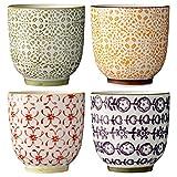 Bloomingville Becher'Isabella' (4 St.) / Keramik/handgemacht