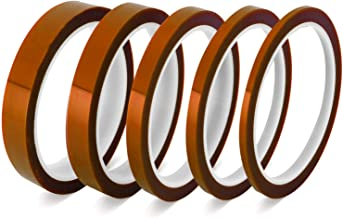 Selizo 5 Pack Heat Tape Hight Temp Tape Sublimation Heat Resistant Temperature Tape for Vinyl Heat Press