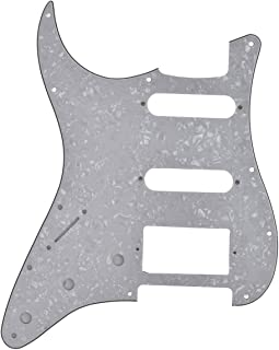 Left Handed Lefty Electric Guitar Pickguard Scratch Plate for Fender Strat Parts HSS White Pearl 3 Ply