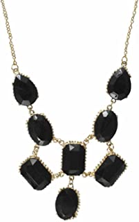 Karatcart GoldPlated Black Stone Statement Necklace for Women