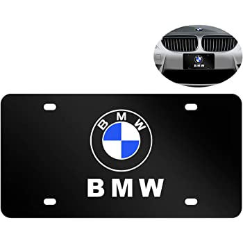 Black Heavy Type 3D Stainless Steel License Plate Cover for BMW,Protect and Personalize Your BMW License Plate Frame