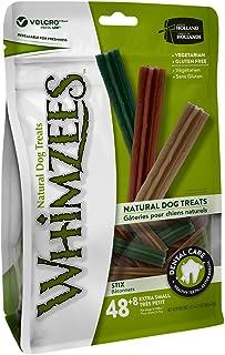 Whimzees Dog Dental Treats Stix Xtra Small Mix Brown/Green/Orange 48+8 Pcs