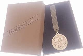 Commemorative Souvenir Badge Army Anniversary Eagle Golden National Emblem Of USA Round Golden