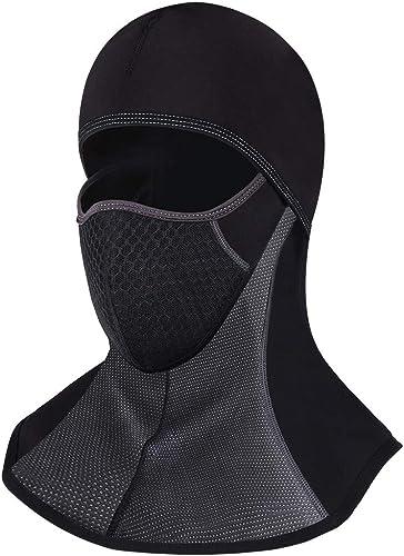 ROTTO Pasamontañas Moto Negro Impermeable Esquí Ciclismo Snowboard Máscara Facial de Deportes al Aire Libre Calentar ...