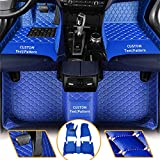 Jialuode Custom Car Floor Mats for BMW 1 2 3 4 5 6 7 Series X1 X2 X3 X4 X5 Floor Liners All Weather Protection Luxury PU Leather Carpets Full Set Blue