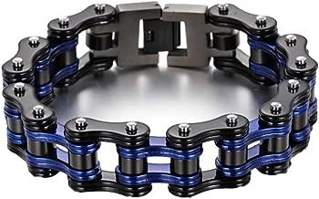 Men Stainless Steel Bracelet Bicycle Bracelet Wide Link Rock Punk Motorcycle Chain Men's Jewelry Wristband
