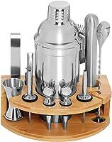Cocktail Bar Set Kit con Herramientas y Accesorios   12 Piezas Utensilios de Bar de Acero Inoxidable Conjuntos para...