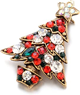 Premium Crystal Little Brooches Pins Christmas Tree Vintage Brooch Pin Jewelry Gifts for Women