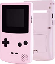 eXtremeRate Sakura Pink Soft Touch GBC Replacement Full Housing Shell Cover w/Buttons Screws Screwdriver Tools Set for Gam...