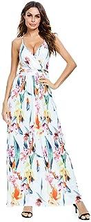 2020 Verano Vestido Europeo y Americano para Mujer Vestido de Mujer de Tirantes con Estampado Digital de Gran tamaño