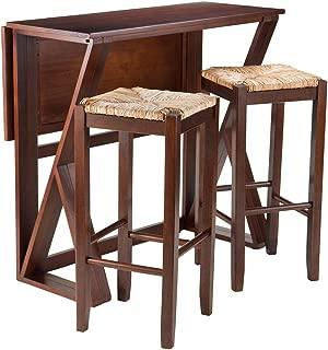 Wood & Style Premium Décor 3-Pc Drop Leaf High Table, 2-29