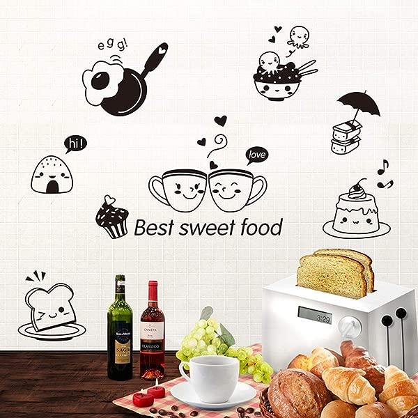 DAWEIF Waterproof Kitchen Wall Stickers DIY Wall Art Decal Decoration For Kitchen Dining Room Fridge Restaurant