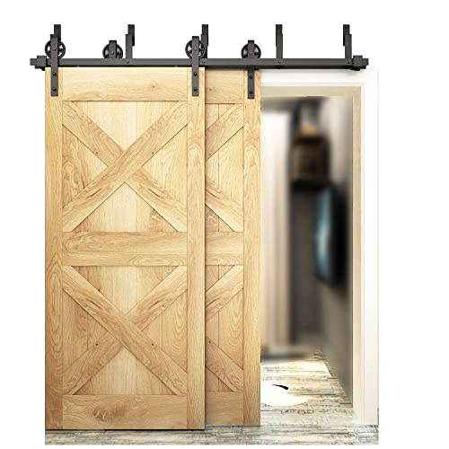 Superbe DIYHD 5.5ft Bypass Big Wheel Sliding Barn Wood Door Track Hardware Interior Closet  Door Kitchen