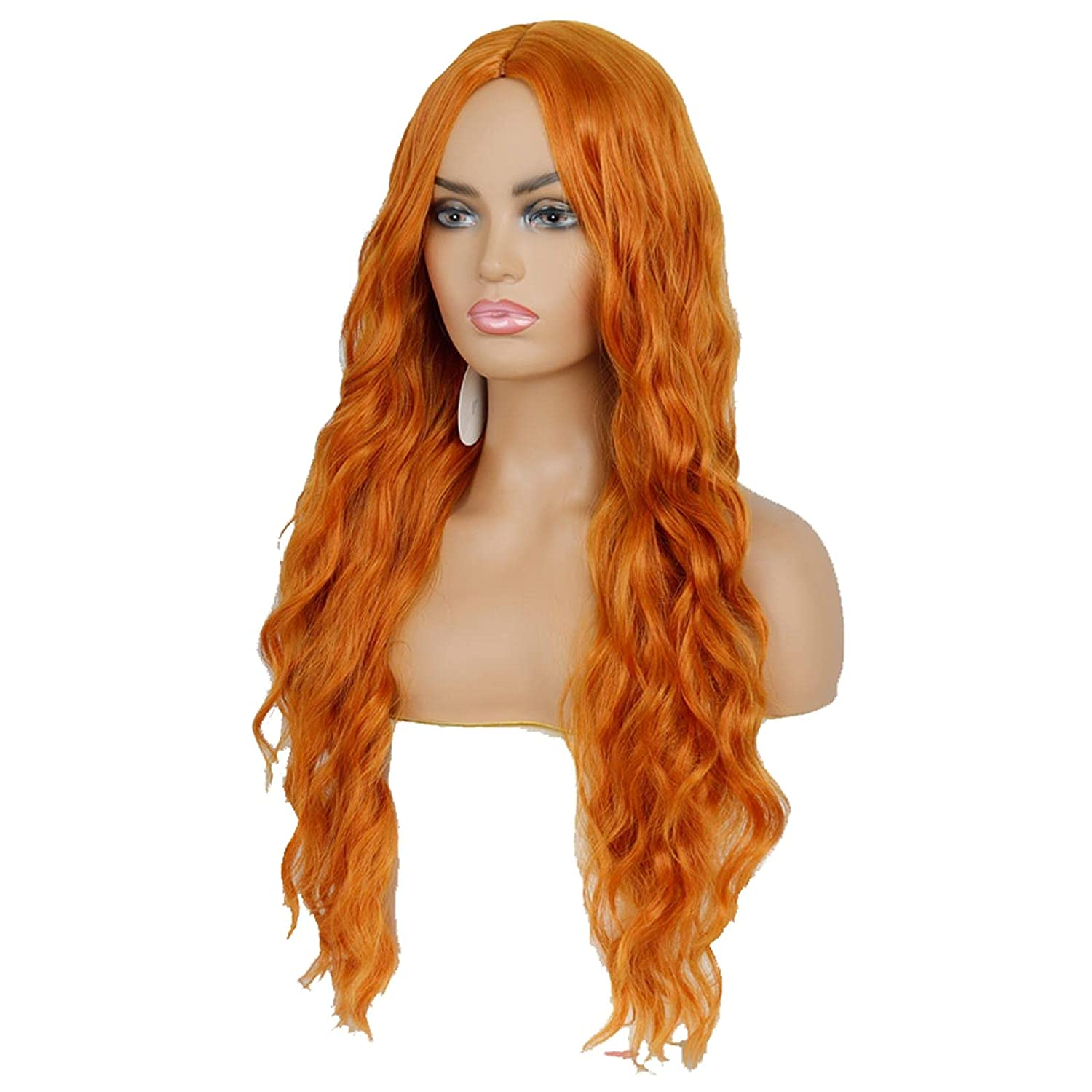 wigs half Long Wave Wig Middle Natural High Temperature Direct store Synthetic Rol