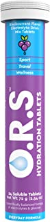 O.R.S Hydration Tablets Electrolyte Mix for Sports and Exercise, Running, Cycling, Travel and Wellness, Blackcurrant Flavo...
