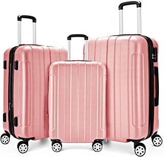 """Hardshell Luggage Sets,Hardside Lightweight PC+ABS 3 Piece Set Suitcase Clearance with TSA Lock & Spinner Wheels(20""""/24""""/2..."""