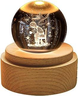 TENGEE 誕生日プレゼント女性 人気 オルゴール おしゃれ インテリア雑貨 置物 月ライト USB充電 投影 可愛い癒しグッズ 記念日 結婚祝い (星の王子さま-星に願いを)