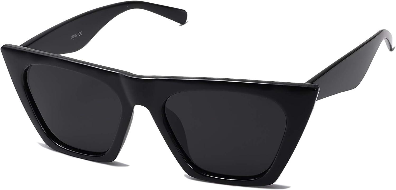 SOJOS Vintage Cateye supreme Award-winning store Polarized Trendy Oversized Women Sunglasses