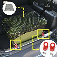 wroadavee Rear Trunk Luggage Net & Rear Trunk Hooks 3pcs for Suzuki Jimny 2007-2017