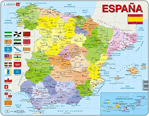 Larsen Puzzle K84–Spain-Political MAP